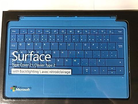 Microsoft le type de surface couvercle 2 avec rétro-éclairage - couleur cyan