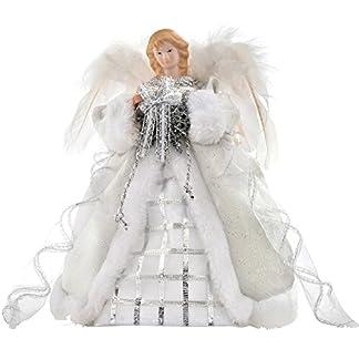 WeRChristmas-Weihnachts-Deko-Figur-Motiv-Engel-mit-Flgeln-aus-Stoff-30-cm-silberfarbenWei