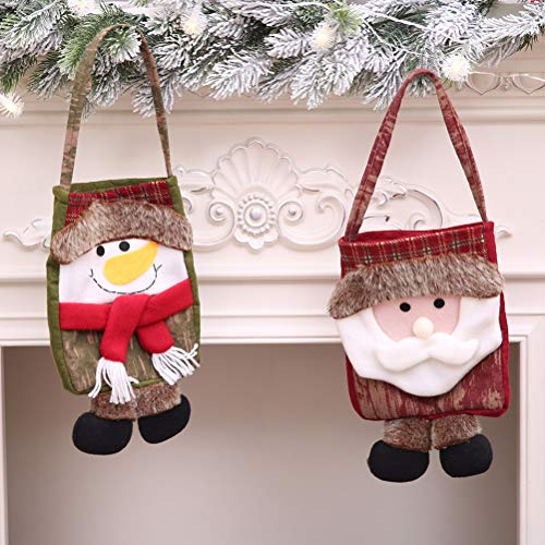 istmas Gift Bag Old Man Xmas Party Holiday Cookie Candy Fudge Shopping Plastic Gift Bag ()
