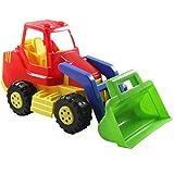 ADRIATIC Baufahrzeuge groß Raupe Bagger Traktor Radlader Sandkasten Spielzeug, Modell / Charakter:Radlader m. grüner Schaufel