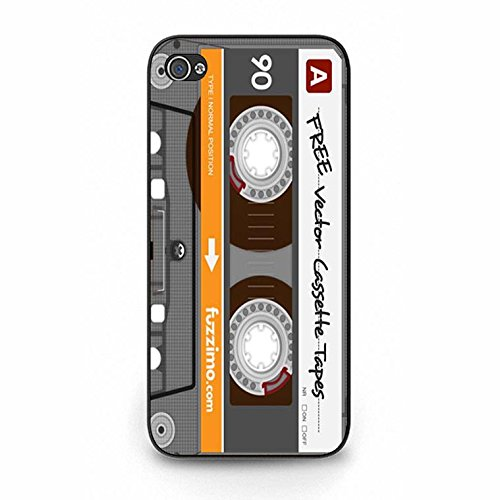 Iphone 5/5s Magnetic Tape Shell Cover,Personality Cusom Music Tapes Phone Case Cover for Iphone 5/5s Cassettes Cool Color132d