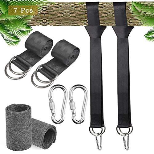 FOCCTS 1 Paar Hängematte für Schaukeln Max 800kg Safe Swing Hanging Gurt Kit zum Aufhängen Wasserdichte Hängematten Bäume Befestigungsset 2 x 150cm Beste Polyesterfaser -