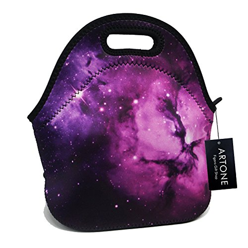 Artone Lila Universum Galaxis Neopren Gourmet-Mittagessen-Beutel