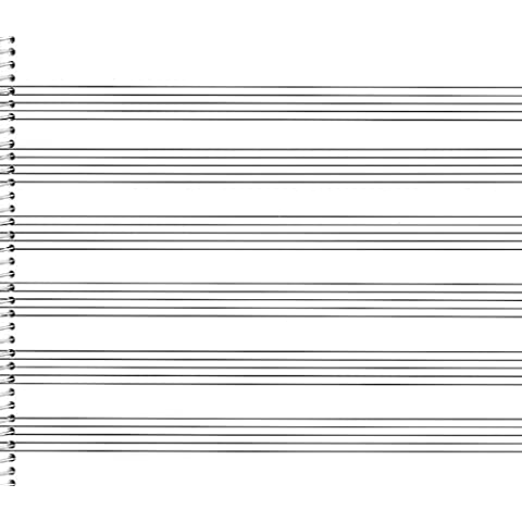 Passantino Music Papers: No. 76, 6 Staves (Extra Wide)