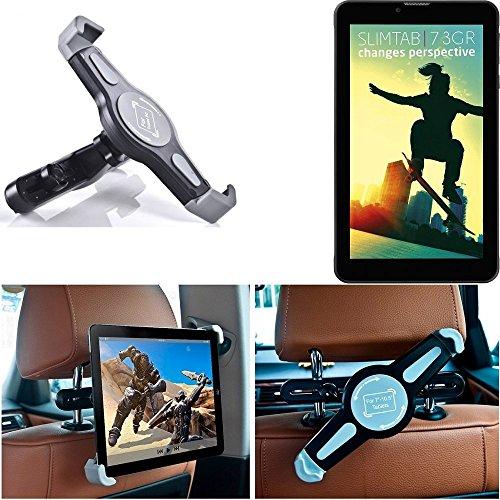 K-S-Trade Tablethalterung für Kiano Slimtab 7 3GR KFZ Kopfstützen Halterung 360° Auto Sitzhalterung Headrest Holder Halter Tablet PC Kopfstütze Autositz Tablet-PC Reisehalter