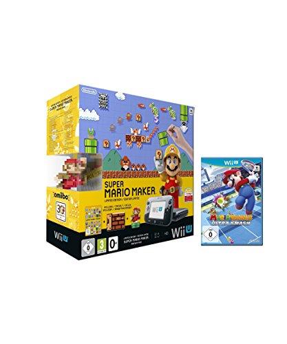 Nintendo Wii U Premium Pack schwarz, 32GB inkl. Super Mario Maker + Artbook + Amiibo + Mario Tennis: Ultra Smash