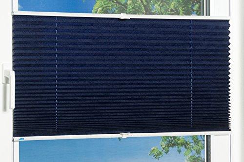 K-home Klemmfix-Plissee Palma Blau 70 x 130 cm (B x L) Lichtschutz +++ Moderne Crushed Optik +++ - 5