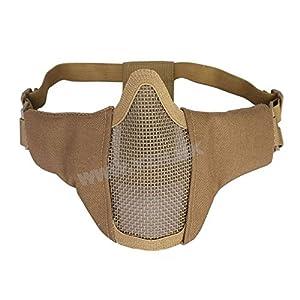 Masque Stalker Gen3 / Protection Bouche Bas de visage Generation 3 de couleur Noir / Cosplay