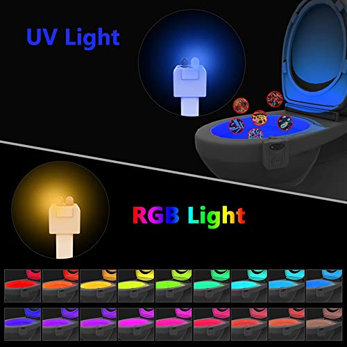 lymty Auto-Sensing Toilette Licht Led Nachtlicht Bewegungssensor Hintergrundbeleuchtung Für WC-Schüssel Bad 16 Farben WC Nachtlicht Für Kind