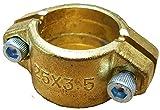 Schlauchklemme/Schlauchschelle Massiv 1' zum Saugschlauch_-=-_ z.B. für Gartenschlauch Schlauch mit Rückschlagventil und GEKA Kupplung im Brunnenbau mit Erdbohrer und Schwengelpumpe