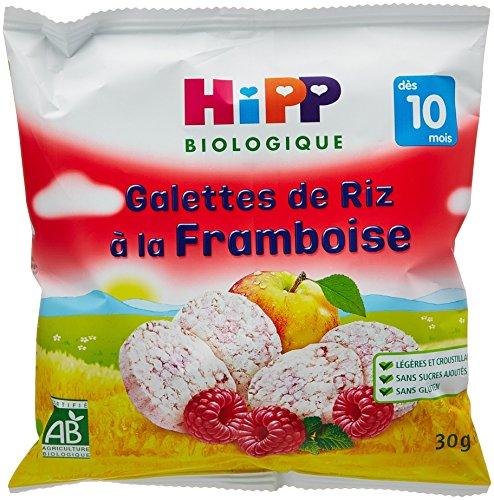 Hipp Biologique Galettes de Riz à la Framboise dès 10 mois - 7 sachets de 30 g