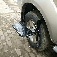 Dbtxwd Neumático de la Rueda Paso, fácil Acceso a la azotea baca Puerta del vehículo Step Up Pedal, Ajustable Paso Servicio Plegable para Coches, SUV