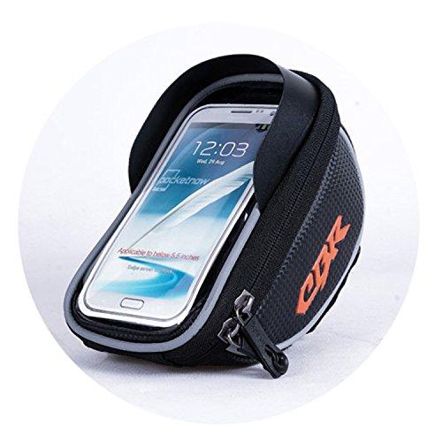 Preisvergleich Produktbild CBR Top Tube wasserdicht Handy Tasche Taschen Radfahren Rahmen Fahrradlenker Halterung für iPhone 8 / 8 Plus / 7 / 7s,  Galaxy S7 / S6 / S6 Edge,  Galaxy S5,  Sony,  LG,  etc. bis 14 cm