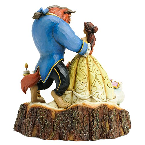 Disney-Tradition-4031487-La-Belle-La-Bestia-Resina-Design-di-Jim-Shore-19-cm
