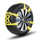 Schneeketten Universal Schneeketten, 6 stücke Anti-rutsch Einstellbare Reifen Rad Notfall Lösung Traktionsketten Passt Ketten für auto, lkw, SUV