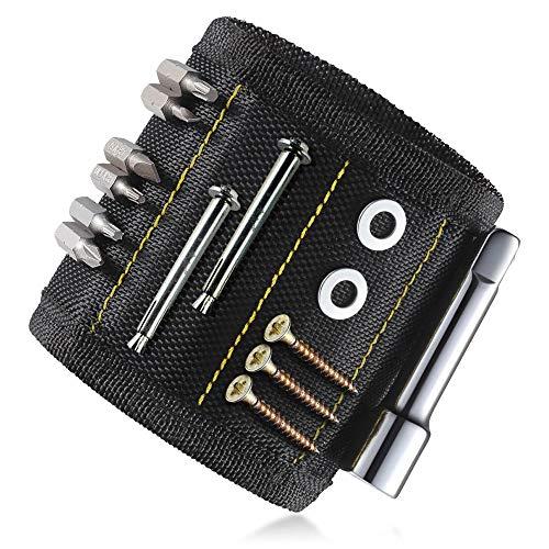 Magnetische Armband, KIPIDA Starke Magnetarmband mit 10 leistungsstarken Magnetische für Schrauben, Holding Werkzeuge, Nägel, DIY, Bohren Bits und Kleinwerkzeuge - Best Geschenk für Vater