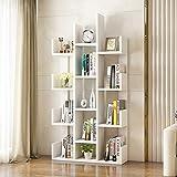 Unbekannt FEI Rack Bücherregal, Moderne Bücherregal Bücherregal Display Storage Organizer Regale für CDs, Schallplatten, Bücher, Home Office Deco (Farbe : Weiß)