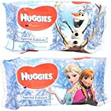 Huggies Baby Wipes Soft Refill 3 Pack- Safe For Hands & Face 56 Count (3 PACK, 168 Count) - Phenoxythanol, Paraben, & Alcohol Free | Aloe Vera & Vitamin E | SPECIAL EDITION - Frozen
