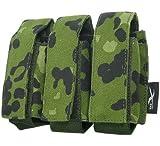 BE-X Magazintasche 40mm, für MOLLE, für drei 40mm Gewehrgranaten - dänisch tarn