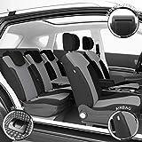 DBS 1010730 Housse de siège Auto / Voiture - Sur Mesure - Finition Haut de Gamme - Montage Rapide - Compatible Airbag - Isofix