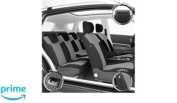 SEAT IBIZA FR 09-ON Black White Pipe Front Pair Car Seat Covers Set