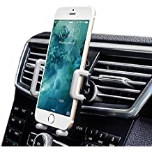 [Versione di Aggiornamento] Amotus® Universale Supporto Auto Regolabile 360 Grado Auto Air Vent Telefono Titolare Auto Culla Mount Kit di Montaggio per iPhone 7 6S 6 SE Plus, Samsung Galaxy Nota/Edge, Smartphone e Dispositivo GPS - Shock Braccio