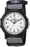 Timex Men's T49713 Quartz Expedition Camper Watch with White Dial Analogue Display and Black Nylon Strap