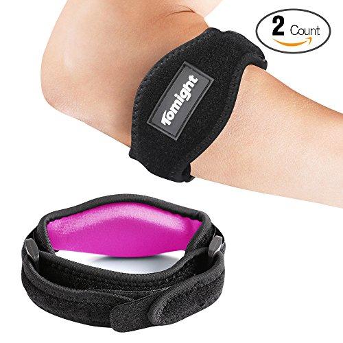 Epicondylitis Spange, 2 Stück Bandage Ellenbogen Tennisarm Medizinisc für Schmerzlinderung, Rosa Atmungsaktiv Bandage Tennisarm für Damen, Einstellbare Dichtigkeit