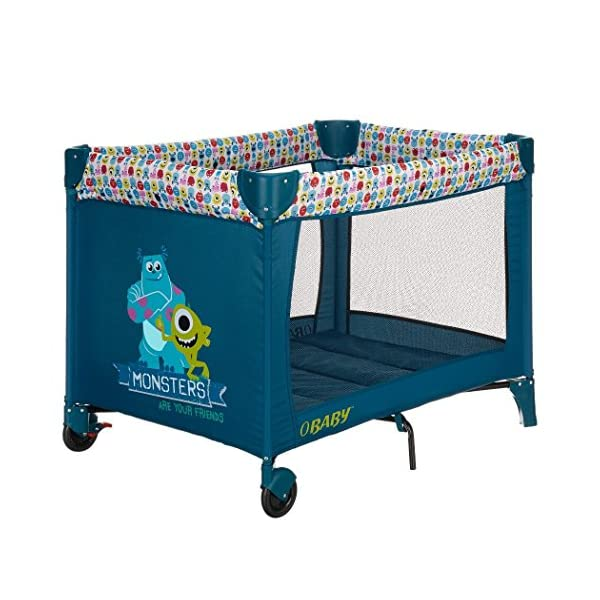 Obaby Disney Travel Cot and Bassinette (Monsters Inc) Obaby High quality bassinette, suitable from birth Quick and easy to assemble Compact fold with storage bag & carry handle 2