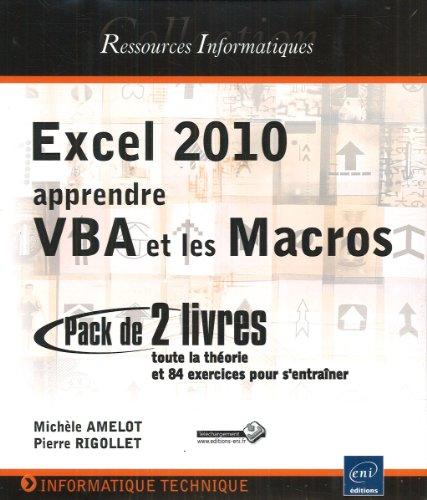 Excel 2010 : apprendre VBA et les Macros - Coffret de 2 livres : toute la théorie et 84 exercices pour s'entraîner