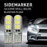Mihaz 2X 5050 lampadine a LED bianco caldo lampadine a risparmio energetico 6SMD Lampadine Per la casa Usa silicone lampadine a LED