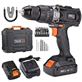 Cordless Drill, TACKLIFE 18v Electric Drill with Hammer, 2pcs 2.0A Li-Ion Batteries, 13mm