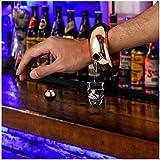 Sannysis Pulsera Petaca de Acero Inoxidable para Whisky Licor Alcohol -100ml/ 3.5Oz (Oro)