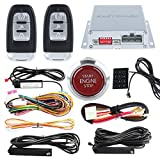 EasyGuard ec002-p4Smart Schlüssel PKE Auto Alarm mit Auto Start Engine Start Stop Knopf drücken Keyless Go Passwort Entry Lock Unlock Rot Push Button DC12V