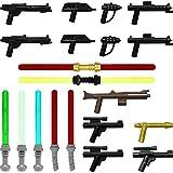 GALAXYARMS 29-teiliges Waffenset: Set 14.3 mit Blastern, Gewehren, Pistolen und Laserschwertern . Geeignet für Deine LEGO Minifiguren-Armee. NEUHEIT!