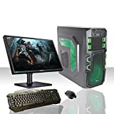 PC DESKTOP GAMING INTEL QUAD CORE WIFI/HD 1TB SATA III/RAM 8GB 1600MHZ/HDMI-DVI-VGA/USB 2.0 3.0 SD CARD/MONITOR 22 LED HD SAMSUNG VGA ATTACCO VESA/TASTIERA E MOUSE GAMING PC FISSO COMPLETO PRONTO ALL'USO GIOCHI,UFFICIO,GAMING ITEK NINJA