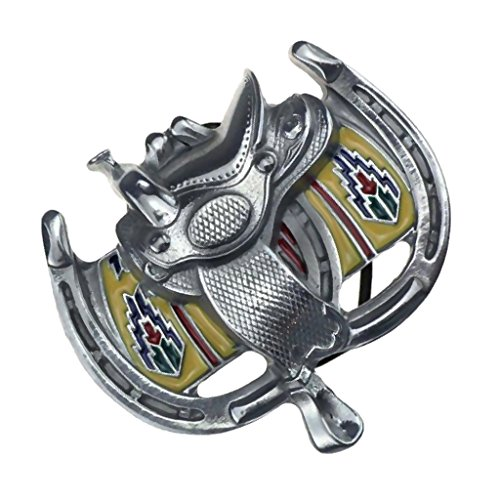 Perfect Belt Buckle Western Cowboy Style Clothing Accessories - Silver, 10.5 x 8cm