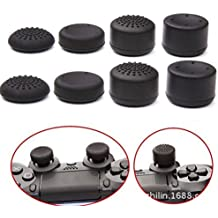 Confezione di 8cappucci (rialzati e non) per le levette analogiche dei controller per PS4, PS3, Switch Pro, Xbox One, Xbox 360, Wii U, PS2