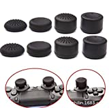 Lot de 8 Capuchons de Manette Analogique Joystick Surélevés Antidérapants pour PS4, PS3, Switch Pro, Xbox One, Xbox 360, Wii U, PS2