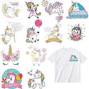 Parches Stickers de Unicornio Termoadhesivos