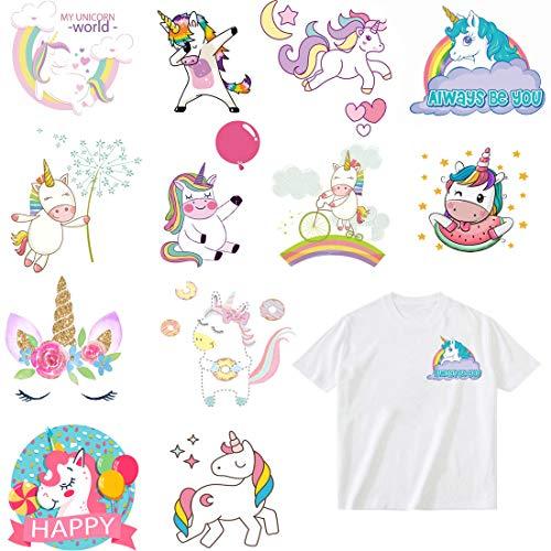 Parches Stickers Unicornio Termoadhesivos