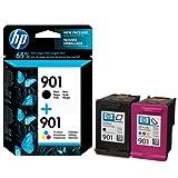 Hewlett Packard No.901 Combo, Original HP Tintenpatronen, 1 x farbige tinten, 2-er Set - 1 x schwarz