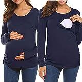 UNibelle Damen Stillshirt Umstandsmode Umstandsshirt Langarmshirt&Kurzarmshirt Mama Schwangerschaft Kleidung Umstandstop