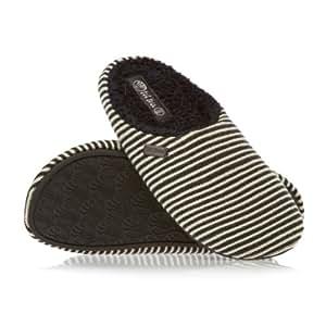Fat Face Kai Stripe Mule Slippers - Blue