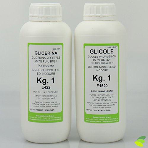 KIT: GLICOLE PROPILENICO USP/EP KG.1 + GLICERINA VEGETALE KG.1 USP/EP