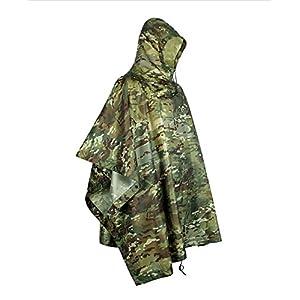 Extérieure Militaire Voyage Camouflage Imperméable Poncho Sac À Dos Housse De Pluie Étanche Tente Tapis Auvent Chasse Camping Randonnée