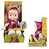 Masha en pourpre (dans la boîte) de Masha et l'ours , poupée en peluche chantante...