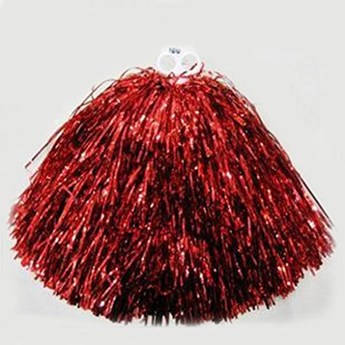 Kostüm Zum Maskottchen - Hand-Puschel für Cheerleader, zum Zujubeln/Tanzen bei Partys oder Sport-Matches, rot, Sliver
