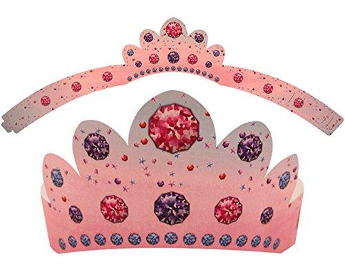 Henbrandt Weihnachten Papier Prinzessin Krone Hüte 5Stück