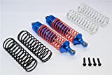 G.P.M. Traxxas Slash 4X4 / Stampede 4X4 / Rustler VXL / Craniac / NOS Deegan Rally / Bandit Tuning Teile Aluminium Rear Adjustable Spring Damper with Aluminium Ball Top & Ball Ends - 1Pr Set Blue